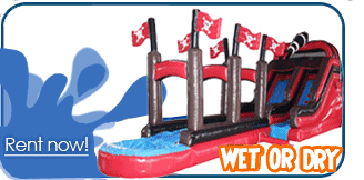 las vegas inflatable water slide rentals
