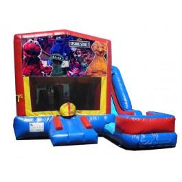 Sesame Street 7N1 Bounce Slide combo (Wet or Dry)