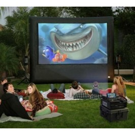 Movie Screen w/Projector