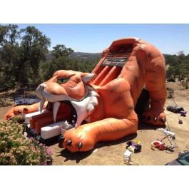 35ft Dual Lane Tiger Dry Slide