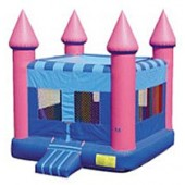 Pink Flatroof Castle Bounce House