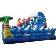 Tropical Ocean Wave Playground Obstacle Course
