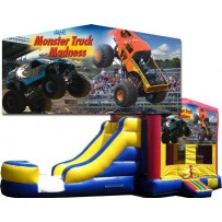 Monster Truck Banner Bounce Slide combo (Wet or Dry)