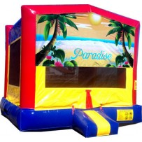 Paradise Banner Bounce House