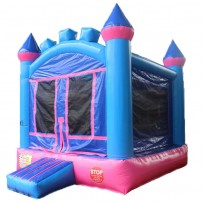 (A) Pink and Purple Castle Bounce House