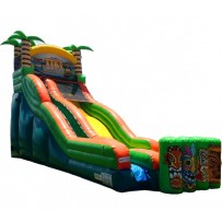 17ft Tiki Island Water Slide